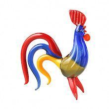 Bright Rooster Glass Figurine