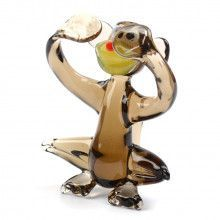 No-See Brown Monkey Glass Figurine