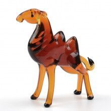 Sahara Camel Glass Figurine