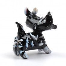 Black Scottish Terrier Glass Figurine