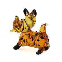 Brown Scottish Terrier Glass Figurine