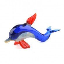 Blue Dolphin Glass Figurine