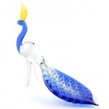 Long Tail Peacock Glass Figurine