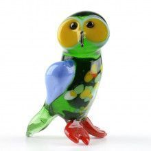 Barn Owl Glass Figurine
