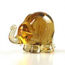 Tiny Elephant Glass Figurine