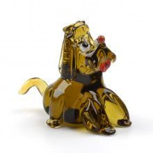 Begging Puppy Glass Figurine