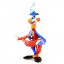 Circus Clown Glass Figurine