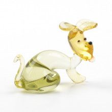 Doggie Glass Figurine