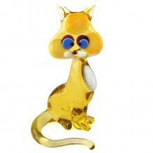 Sitting Cat Glass Figurine