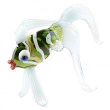 Exotic Fish Glass Figurine