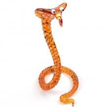 Twisted Cobra Glass Figurine