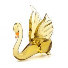 Elegant Swan Glass Figurine