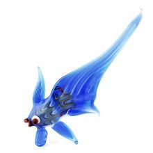 Blue Fish Glass Figurine