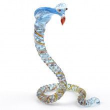 Blue Cobra Glass Figurine