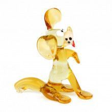 Silly Dog Glass Figurine