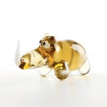 Rhinoceros Glass Figurine