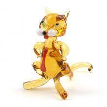 Cat Boss Glass Figurine