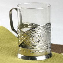 Simple Russian Tea Glass Holder Set