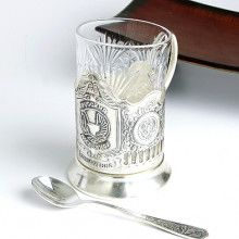 Great Grouse Russian Tea Glass Holder Set
