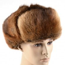 Men's Muskrat Fur Hat