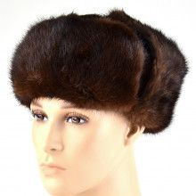 Brown Mink Ushanka Hat