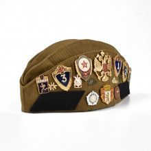 Russian Cap Pilotka With Pins