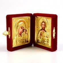 Son Of God & Virgin of Kazan Diptych - Red
