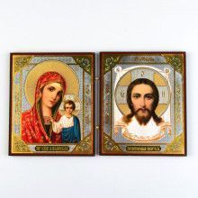 Our Savior & Kazan Mother Of God Diptych