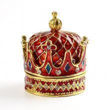 Royal Red Crown Trinket Box