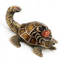 Turtle with Crab Friend Trinket Box
