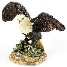 Large American Bald Eagle Trinket Box