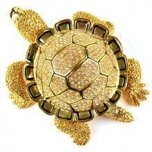 Giant Golden Turtle Trinket Box