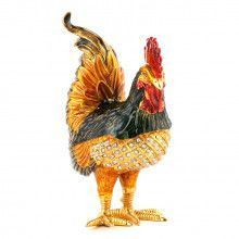 Jeweled Rooster Trinket Box