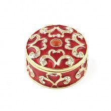 Red Keepsake Box With Hearts