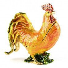 Golden Rooster Trinket Box