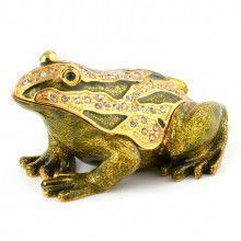Green and Gold Frog Trinket Box