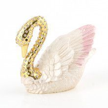 Bejeweled Swan Trinket Box