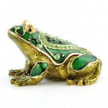 Green Spotted Frog Trinket Box