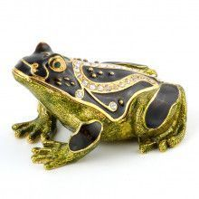 Sitting Frog Trinket Box