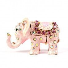 Small Pink Elephant Keepsake Box