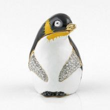 Funny Penguin Hinged Trinket Box