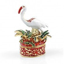 Jeweled Flamingo Trinket Box