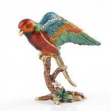 Colorful Parrot Trinket Box