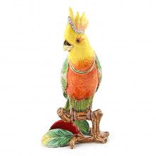 Bright Cockatoo Trinket Box
