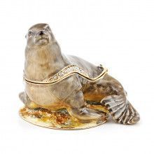 California Sea Lion Hinged Trinket Box