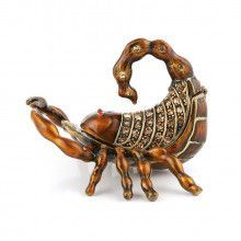 Brown Scorpion Trinket Box
