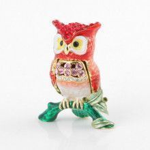 Red Owl Trinket Box