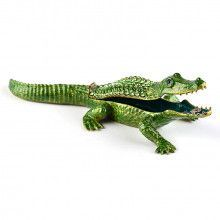 Green Alligator Trinket Box