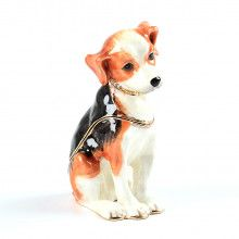 Beagle Puppy Trinket Box