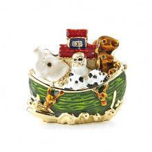 Noah's Ark Hinged Trinket Box